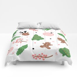 Christmas pattern in pink Comforters