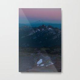 Magenta Cyan Sunset Paradise Metal Print