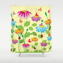 colorful meadow Shower Curtain