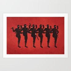 Ninja Kickline Art Print
