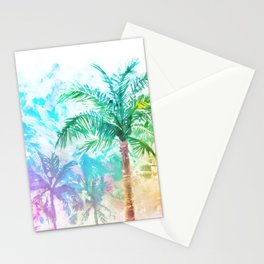 Neon Palm Trees Stationery Cards