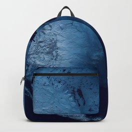 Blue North America Topographic Map Backpack