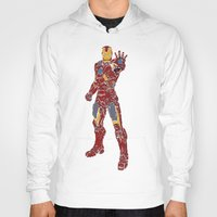 ironman Hoodies featuring Ironman by PlayWithFireDieInIce