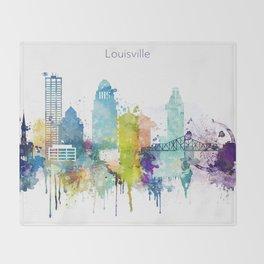 Colorful Louisville skyline design Throw Blanket