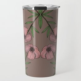 PINK FLOWER Travel Mug