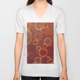orange bubbles Unisex V-Neck