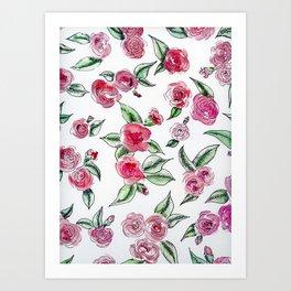 Rose Camelia Art Print