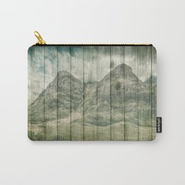 Rustic Country Wood Mountains Landscape Carry-All Pouch