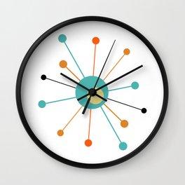 Atomic Age Starburst Mid Century Modern Wall Clock