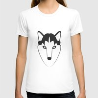 husky T-shirts featuring Husky by anabelledubois