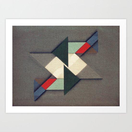 La Réunion Geometrique   Art Print