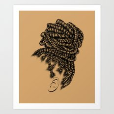 Crown: Box Braid Bun Art Print