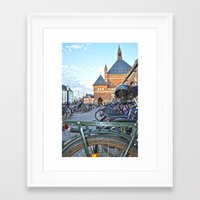 bicycles Framed Art Prints featuring bicycles by  Agostino Lo Coco