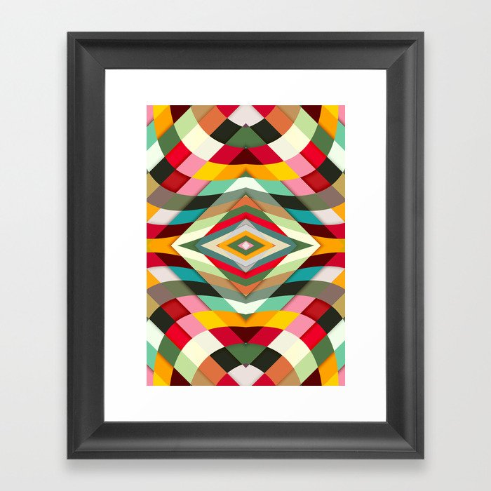 Colorful Smile Framed Art Print