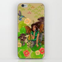 tina fey iPhone & iPod Skins featuring Forest Fey by Winsome Kindle