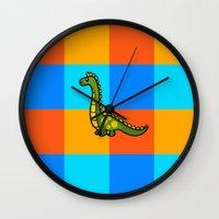 dino Wall Clocks featuring Dino by ZaWe