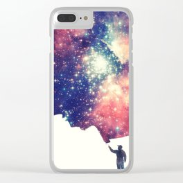 Painting the universe (Colorful Negative Space Art) Clear iPhone Case