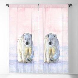 Polar bear in the icy dawn Blackout Curtain