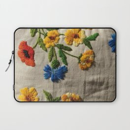 Flowers stitched Laptop Sleeve