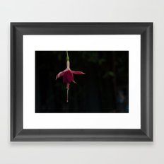 Dancing Ballerina Flower Framed Art Print