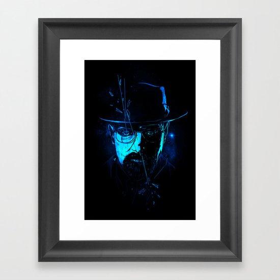 Mr. White (Crystal Blue) Framed Art Print