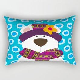 Bear in Purple Print Rectangular Pillow