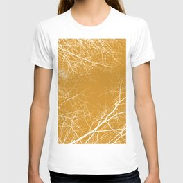 Branches Impressions on Yellow T-shirt