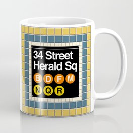 subway herald square sign Coffee Mug