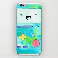 bmo iPhone & iPod Skins featuring BMO by Lauren Reed Art
