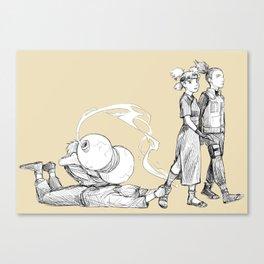 Clingy boys Canvas Print