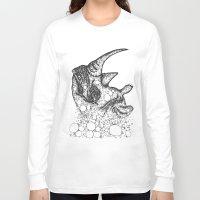 rhino Long Sleeve T-shirts featuring Rhino by Julia Kisselmann