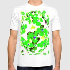 Floral Easter Egg MEDIUM White Mens Fitted Tee