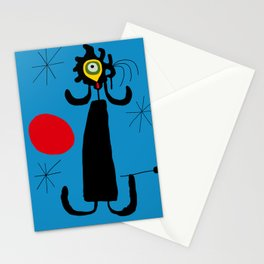 Art work inspired to J. Mirò (n.4) Stationery Cards
