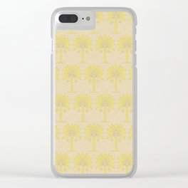 Mustard Spice Moods Palm Clear iPhone Case