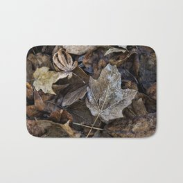 leaves on the ground Bath Mat