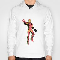 ironman Hoodies featuring ironman  by mark ashkenazi
