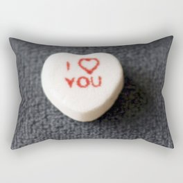 I love you (on blue) by cocoblue Rectangular Pillow
