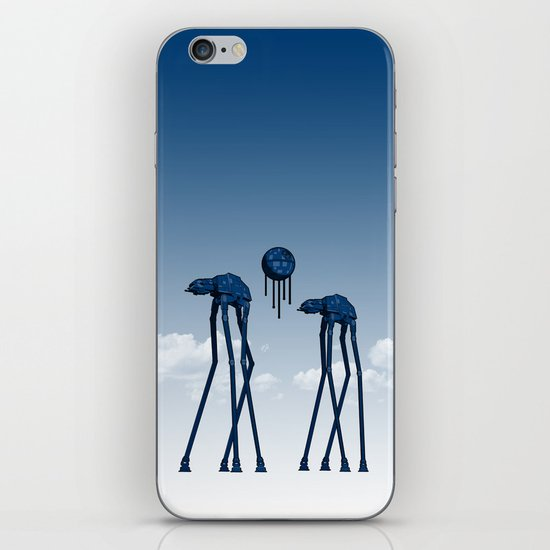 Dali's Mechanical Elephants - Blue Sky iPhone & iPod Skin