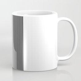 Black & White Vertical Stripes Coffee Mug