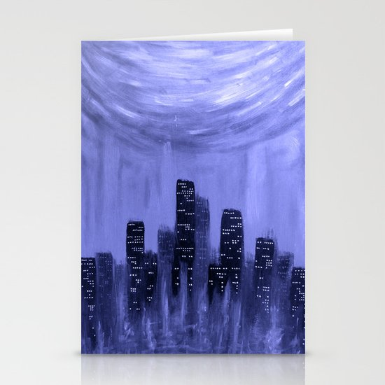 City of Fire ~ Blue  Stationery Cards