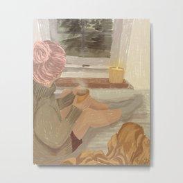 Cozy Coffee Metal Print