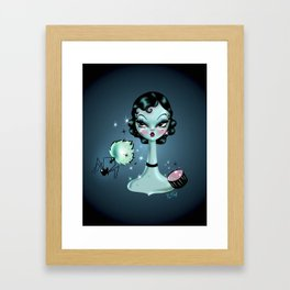 Noir Boudoir Dolly or Black Widow Makeover Framed Art Print