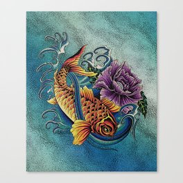 Golden Koi Canvas Print