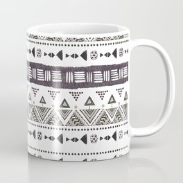 Native American Ornaments Watercolor Pattern Brown Coffee Mug