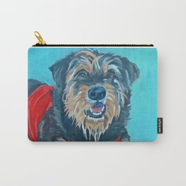 Rescue Mutt Dog Portrait Carry-All Pouch