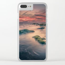 Sunset Ocean Trails Clear iPhone Case