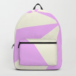 Pink Sun and Retro Rays Burst Backpack