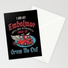 Embalmer Morgue Mortician Embalming Funeral Gift Stationery Cards