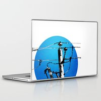 transformer Laptop & iPad Skins featuring Transformer Sky by Rebecca Joy - Joy Art and Design