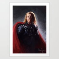 thor Art Prints featuring Thor by Angela Taratuta